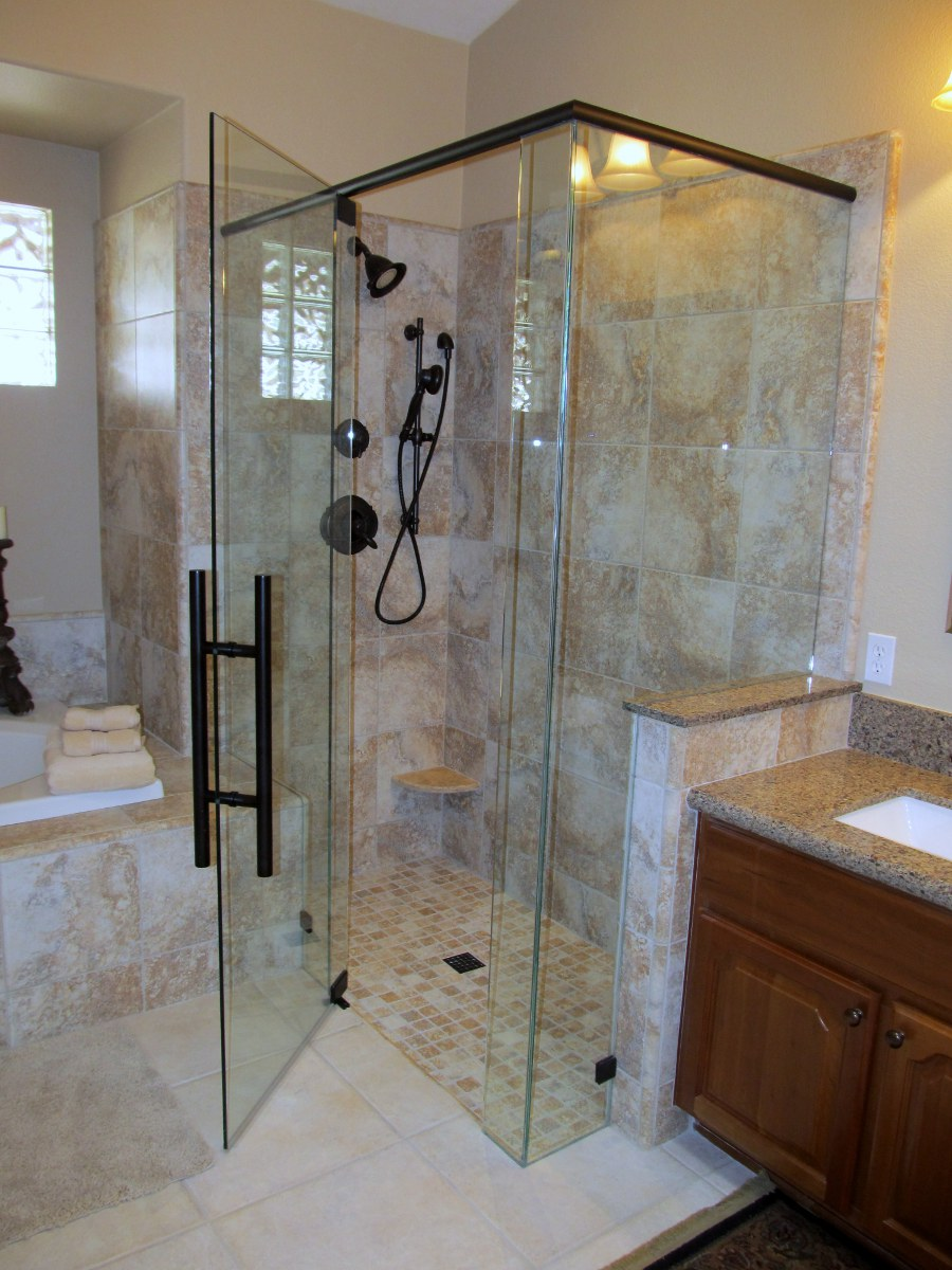 Glass shower doors phoenix az frameless shower doors tub enclosures - Types of showers for your home ...